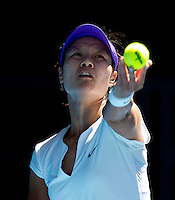 NA LI (CHN) against KSENIA PERVAK (KAZ) in the first round of the Women's Singles. Na Li beat Ksenia Pervak 6-3 6-1..16/01/2012, 16th January 2012, 16.01.2012..The Australian Open, Melbourne Park, Melbourne,Victoria, Australia.@AMN IMAGES, Frey, Advantage Media Network, 30, Cleveland Street, London, W1T 4JD .Tel - +44 208 947 0100..email - mfrey@advantagemedianet.com..www.amnimages.photoshelter.com.