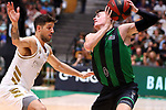 Liga ENDESA 2019/2020. Game: 01.<br /> Club Joventut Badalona vs Real Madrid: 69-88.<br /> Nico Laprovittola vs Nenad Dimitrijevic.