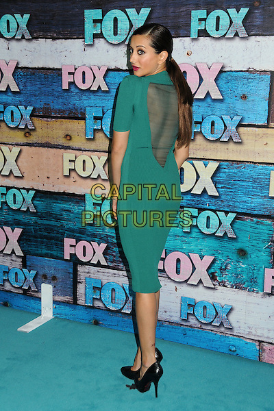 Noureen DeWulf.Fox All-Star Party - Summer 2012 held at Private Location, West Hollywood, California, USA..July 23rd, 2012.full length green dress black shoes sheer backless back behind rear ponytail looking over shoulder .CAP/ADM/BP.©Byron Purvis/AdMedia/Capital Pictures.