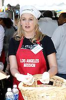 April 2, 2010: Tiffany Thornton at the LA Mission Easter Luncheon event for the homeless in Los Angeles, California. .Photo by Nina Prommer/Milestone Photo.