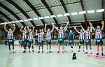Stockholm 2014-03-02 Handboll Elitserien Hammarby IF - Ystads IF :  <br /> Hammarby  spelare jublar med publiken efter matchen<br /> (Foto: Kenta J&ouml;nsson) Nyckelord:  Ystad Bajen HIF jubel gl&auml;dje lycka glad happy