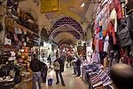 Istanbul; Turkey; Grand Bazaar, Kapali Carsi, Bazaar district; famous public markets,.