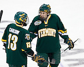 Corey Carlson (Vermont - 13), Brian Roloff (Vermont - 14) - The University of Vermont Catamounts defeated the Yale University Bulldogs 4-1 in their NCAA East Regional Semi-Final match on Friday, March 27, 2009, at the Bridgeport Arena at Harbor Yard in Bridgeport, Connecticut.