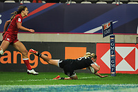 Kelly Brazier of New Zealand scores a try during the Semi Final match between New Zealand and Canada at the HSBC Paris Sevens, stage of the Rugby Sevens World Series at Stade Jean Bouin on June 9, 2018 in Paris, France. (Photo by Sandra Ruhaut/Icon Sport)