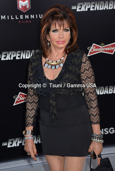 Jackie Stallone 309 at he Expendables 3 Premiere at the Chinese Theatre in Los Angeles.