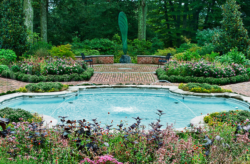 Fountain garden, Mt. Cuba Center , Greenvile, Delaware, USA