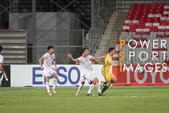 Australia vs Tajikistan during the 2016 AFC U-19 Championship Group D match at Bahrain National Stadium on 21 October 2016, in Riffa, Bahrain. Photo by Jaffar Hasan / Lagardere Sports