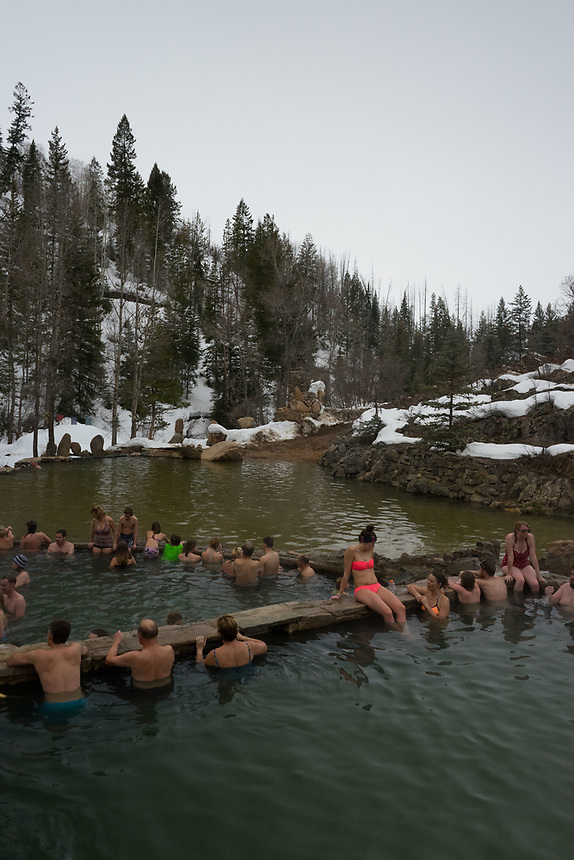 Strawberry Park Hot Springs, Steamboat Springs, Colorado, US