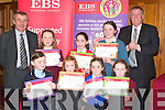 Being presented with their awards at the Kerry region EBS/INTO handwriting competition in the Meadowlands Hotel Tralee on Wednesday night last were(front)L-R Caroline Hurley(Tralee)Muireann de Faoite(Kenmare)Ciara Casey(Ballyduff)and Joanne Murphy(Brosna)(back)L-R Seamus Long(District Representitive INTO)Niamh o Sullivan(Knockaderry)Julianne o Keeffe(Lixnaw)Lucey Kelly(Tralee)and Tom Stuart(EBS)   Copyright Kerry's Eye 2008