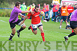 Munster's Scott Deasy goes for the line in the British and Irish Cup at .O'Dowd park, Tralee on Saturday..