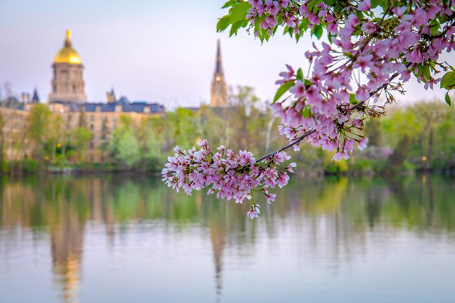 May 7, 2018; St. Joseph Lake spring 2018 (Photo by Matt Cashore/University of Notre Dame)