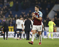 Burnley's James Tarkowski looks dejected as he applauds the fans at the final whistle<br /> <br /> Photographer Rich Linley/CameraSport<br /> <br /> The Premier League - Burnley v Everton - Wednesday 26th December 2018 - Turf Moor - Burnley<br /> <br /> World Copyright &copy; 2018 CameraSport. All rights reserved. 43 Linden Ave. Countesthorpe. Leicester. England. LE8 5PG - Tel: +44 (0) 116 277 4147 - admin@camerasport.com - www.camerasport.com
