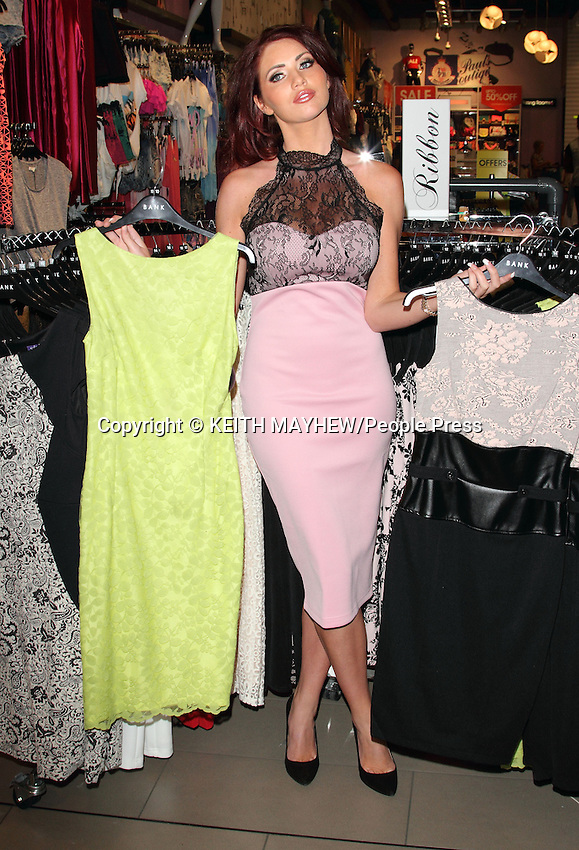 Amy Childs at a Personal Appearance and Signing at Bank Fashion store in Lakeside Shopping centre, Thurrock, Essex - June 8th 2013<br /> <br /> Photo by Keith Mayhew