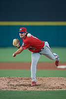 Fort Myers Miracle pitcher Zach Neff (16) during a Florida State League game against the Lakeland Flying Tigers on August 3, 2019 at Publix Field at Joker Marchant Stadium in Lakeland, Florida.  Lakeland defeated Fort Myers 4-3.  (Mike Janes/Four Seam Images)
