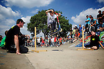 Pix: Shaun Flannery/shaunflanneryphotography.com...COPYRIGHT PICTURE>>SHAUN FLANNERY>01302-570814>>07778315553>>..3rd July 2011...........Area 51, Skate Jam, Anchorage Lane Skate Park..Scooter in action
