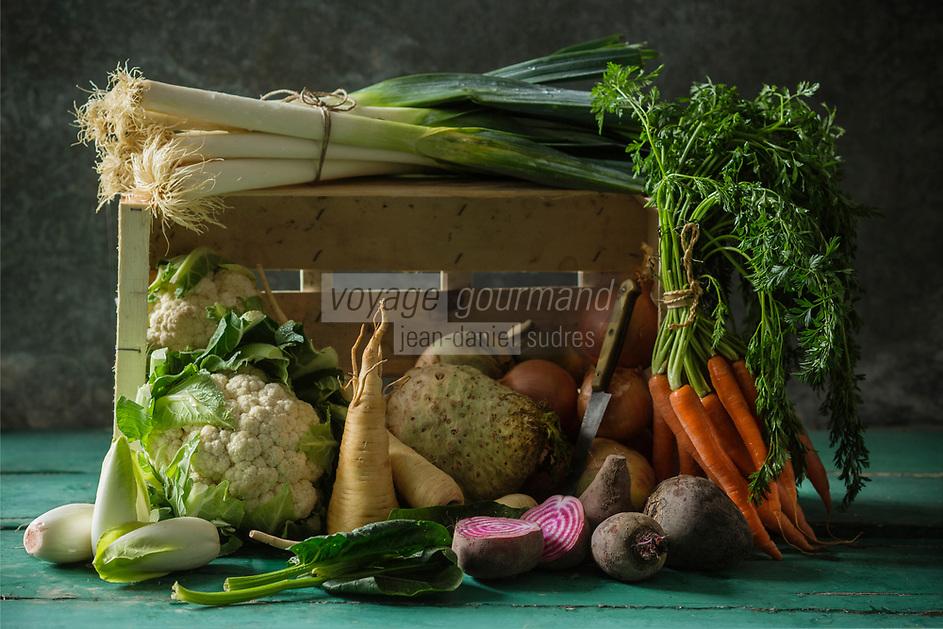 Légumes d'Hiver biologiques : Epinards, Poireaux, Oignons, Betteraves, Panais, Endives, Carottes, Chou-Fleur, Rutabaga //  Organic Winter vegetables: Spinach, Leeks, Onions, Beets, Parsnips, Endive, Carrots, Cauliflower, Rutabaga