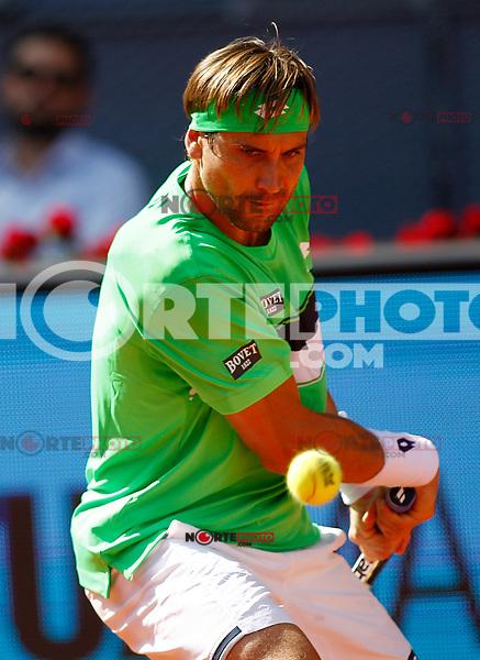 David Ferrer, Spain, during Madrid Open Tennis 2017 match. May 8, 2017.(ALTERPHOTOS/Acero) /NortePhoto.com