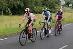 Kévin Le Cunff (FRA) St Michel-Auber93, Clément Carisey (FRA) Israel Cycling Academy, Mountains Jersey leader Loic Chetout (FRA) Cofidis and Angelo Tulik (FRA) Team Total Direct Energie the breakaway during Stage 2 of the Route d'Occitanie 2019, running 187.7km from Labruguière to Martres-Tolosane, France. 21st June 2019<br /> Picture: Colin Flockton | Cyclefile<br /> All photos usage must carry mandatory copyright credit (© Cyclefile | Colin Flockton)