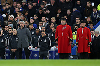 Manchester United Manager, Jose Mourinho, stands for the one minute silence pre-match during Chelsea vs Manchester United, Premier League Football at Stamford Bridge on 5th November 2017