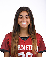 STANFORD, CA - August 16, 2019: Keeley Akagi on Field Hockey Photo Day.