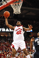 Wisconsin's Alando Tucker goes in for a layup, as the Badgers top Penn State 75-49 on Saturday at the Kohl Center in Madison
