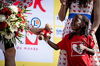 Polka dots jersey podium:<br /> Child looks at  Tim Wellens (BEL/Lotto Soudal) in wonder<br /> <br /> Stage 16: Nimes to Nimes (177km)<br /> 106th Tour de France 2019 (2.UWT)<br /> <br /> ©kramon