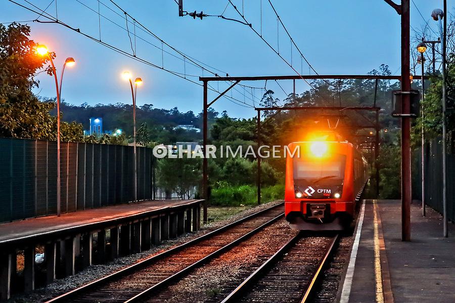 Estaçao de trem da CPTM, Ribeirao Pires. Sao Paulo. 2020. Foto Juca Martins