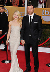 LOS ANGELES, CA - JANUARY 27: Naomi Watts and Liev Schreiber. arrive at the19th Annual Screen Actors Guild Awards held at The Shrine Auditorium on January 27, 2013 in Los Angeles, California.