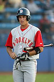July 11th 2008:  Shortstop Jake Eigsti (43) of the Brooklyn Cyclones, Class-A affiliate of the NY Mets, during a game at Russell Diethrick Park in Jamestown, NY.  Photo by:  Mike Janes/Four Seam Images
