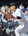 Masahiro Tanaka (Yankees),<br /> APRIL 16, 2014 - MLB : Masahiro Tanaka of the New York Yankees  in action during the Major League Baseball interleague baseball  doubleheader game against the Chicago Cubs at Yankee Stadium in the Bronx, NY, USA.<br /> (Photo by AFLO)