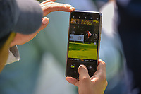 A fan records Tiger Woods' (USA) tee shot on 12 during round 2 of the World Golf Championships, Mexico, Club De Golf Chapultepec, Mexico City, Mexico. 2/22/2019.<br /> Picture: Golffile | Ken Murray<br /> <br /> <br /> All photo usage must carry mandatory copyright credit (© Golffile | Ken Murray)