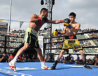 "CARSON, CA- APRIL 20: BRANDON FIGUEROA vs YONFREZ PAREJO during the Fox Sports ""PBC on Fox"" Fight Night at Dignity Health Sports Park on April 20, 2019 in Carson, California. (Photo by Frank Micelotta/Fox Sports/PictureGroup)"