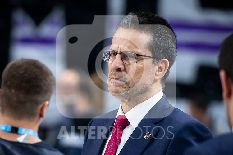 Kirolbet Baskonia coach Pedro Martinez during Liga Endesa Finals match (1st game) between Real Madrid and Kirolbet Baskonia at Wizink Center in Madrid, Spain. June 13, 2018. (ALTERPHOTOS/Borja B.Hojas)