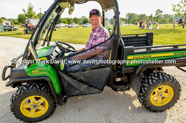 "Pink Tractor Foundation held its fifth annual fundraiser in support of fighting cancer in St. Marys at the Brommel family farm Saturday, June 11. Tom Brommel helped shuttle his friends, neighbor and other friendly visitors to the celebration area. He was known a ""Uber Tom"" for the day."