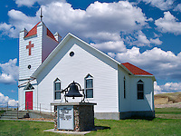 Presbyterian church in rural Interior, South Dakota