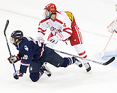 Joey Ferriss (UConn - 28), Brandon Hickey (BU - 4) - The Boston University Terriers defeated the visiting University of Connecticut Huskies 4-2 (EN) on Saturday, October 24, 2015, at Agganis Arena in Boston, Massachusetts.