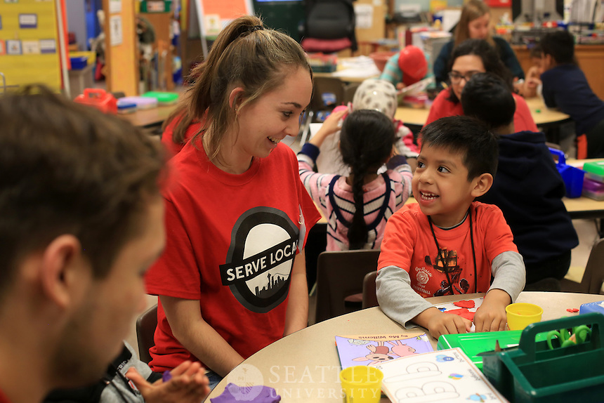 January 27th, 2016-  Seattle University Youth Initiative at Bailey Gatzert Elementary School. <br />