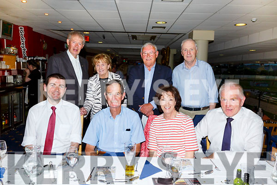 Enjoying the 21st birthday of the Kingdom Greyhound Track on Friday night.<br /> Seated l-r, Minister Brendan Griffith TD, Dick and Christy Spring and Jimmy Dennihan.<br /> Back l-r, Michael and Helena Ni Mhuircheartaigh, Frank Thornton and John Ward.