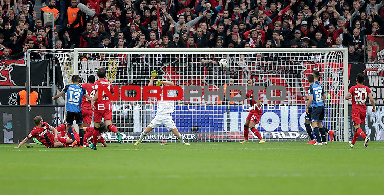 22.10.2016, BayArena, Leverkusen, GER, 1.FBL, Bayer 04 Leverkusen vs TSG 1899 Hoffenheim<br /> Kerem Demirbay (Hoffenheim) erzielt das 1:0<br /> <br /> Foto &copy; nordphoto / Bratic