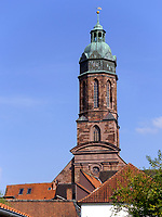 Turm der Marktkirche St. Jacobi, Einbeck 13.-14. Jh., Niedersachsen, Deutschland, Europa<br /> Marketchurch St. Jacobi 13./14. c., Einbeck, Lower Saxony, Germany, Europe