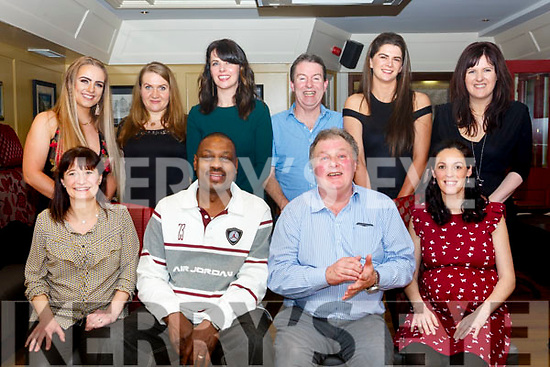 Landers Outdoor World Tralee enjoying a belated Christmas party in the Brogue Inn on Saturday night last.<br /> Seated l-r, Mia Smith, Roscoe Paterson, Tim Landers and Marie Scott. Standing l-r, Dearbhail Foley, Justyna Orlik, Emma Landers, Colin McDaid, Triona Moriarty and Tricia O&rsquo;Sullivan.