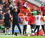 Chris Wilder manager of Sheffield Utd applauds the fans during the League One match at Bramall Lane Stadium, Sheffield. Picture date: September 17th, 2016. Pic Simon Bellis/Sportimage