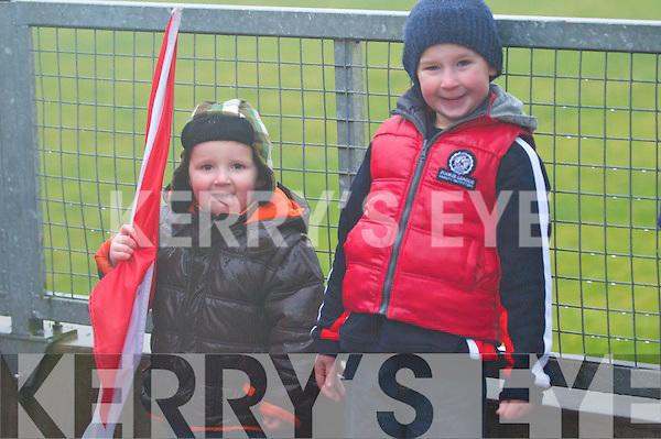 Fionn and Óisín Ó Dubhda from Dingle enjoying the West Kerry Senior Final between Daingean Uí Chúis and Annascaul at Lios Poil GAA Grounds in Sunday afternoon..