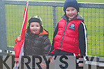 Fionn and Óisín Ó Dubhda from Dingle enjoying the West Kerry Senior Final between Daingean Uí Chúis and Annascaul at Lios Poil GAA Grounds in Sunday afternoon..