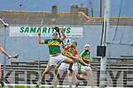 Aidan Boyle Kerry and Shane Kavanagh Carlow in action during their Allianz Hurling league clash in Fitzgerald Stadium on Sunday