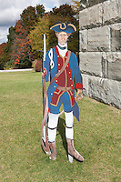 Minuteman outside the Bennington Battle Monument, the tallest structure in Vermont