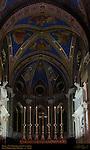 Neo-Gothic High Altar 13th c Gothic Mullioned Windows in Apse Gothic Vault Frescoes Tomb of Leo X Baccio Bandinelli Tomb of Clement VII Nanni di Baccio Bigio Santa Maria sopra Minerva Campus Martius Rome