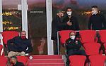 23.05.2020, Allianz Arena, nph00250, , München, GER, 1.FBL, FC Bayern München vs Eintracht Frankfurt 23.05.2020 , <br /><br />Nur für journalistische Zwecke!<br /><br />Gemäß den Vorgaben der DFL Deutsche Fußball Liga ist es untersagt, in dem Stadion und/oder vom Spiel angefertigte Fotoaufnahmen in Form von Sequenzbildern und/oder videoähnlichen Fotostrecken zu verwerten bzw. verwerten zu lassen. <br /><br />Only for editorial use! <br /><br />DFL regulations prohibit any use of photographs as image sequences and/or quasi-video..<br />im Bild<br />Ehrentribuene mit Karl-Heinz RUMMENIGGE (CEO, Vorstandsvorsitzender FCB AG)   Franz BECKENBAUER ( ex FCB President, captain of honor FCB) Fredi BOBIC, FRA Vorstandsmitglied,  <br />    <br /> Foto: Peter Schatz/Pool/Bratic/nordphoto