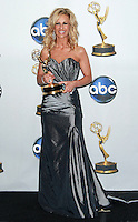 Judge Cristina Perez with her award backstage after winning the Outstanding Legal/Courtroom Program award at the 35th Annual Daytime Emmy Awards held at the Kodak Theatre in Los Angeles on June 20, 2008.