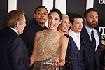 HOLLYWOOD, CA - NOVEMBER 13: (L-R) Producer Charles Roven, actors Gal Gadot, Connie Nielsen, Ezra Millerand Ben Affleck arrive at the Premiere Of Warner Bros. Pictures' 'Justice League' at the Dolby Theatre on November 13, 2017 in Hollywood, California.